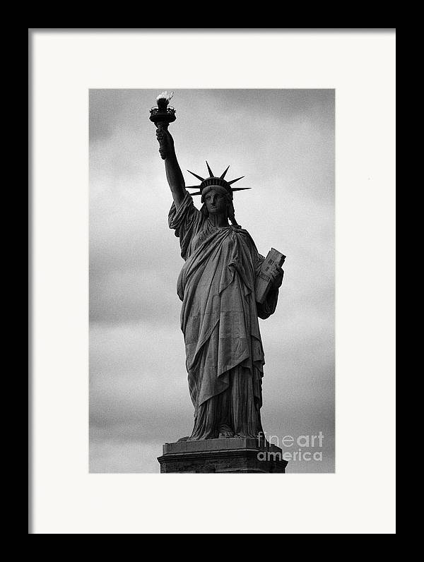 Usa Framed Print featuring the photograph Statue Of Liberty National Monument Liberty Island New York City Nyc Usa by Joe Fox