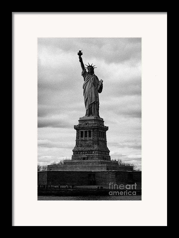 Usa Framed Print featuring the photograph Statue Of Liberty National Monument Liberty Island New York City Usa by Joe Fox