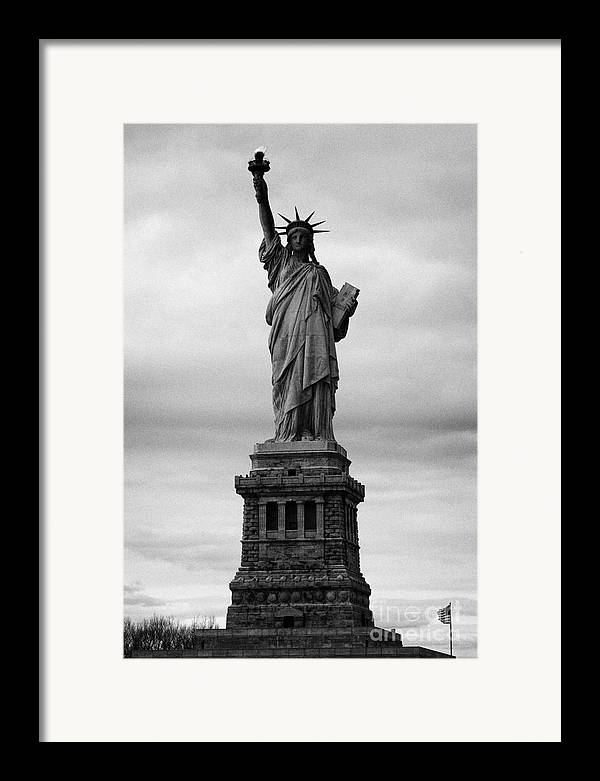 Usa Framed Print featuring the photograph Statue Of Liberty National Monument Liberty Island New York City Usa Nyc by Joe Fox