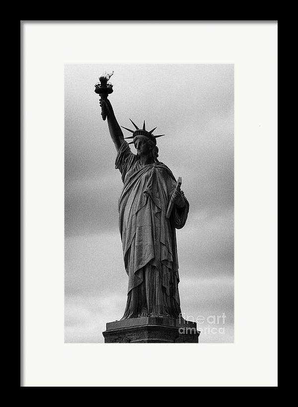 Usa Framed Print featuring the photograph Statue Of Liberty New York City Usa by Joe Fox