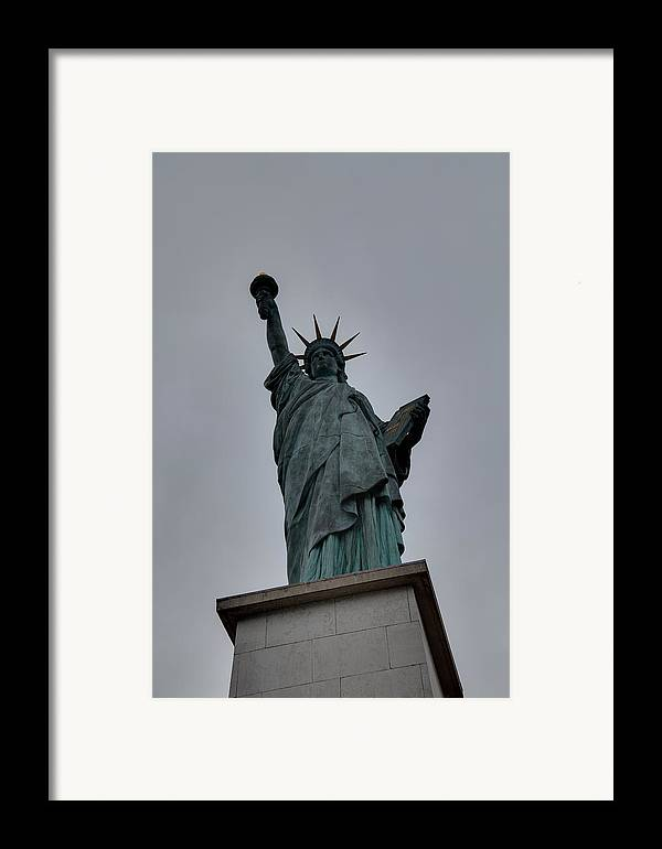 Aod Framed Print featuring the photograph Statue Of Liberty - Paris France - 01131 by DC Photographer