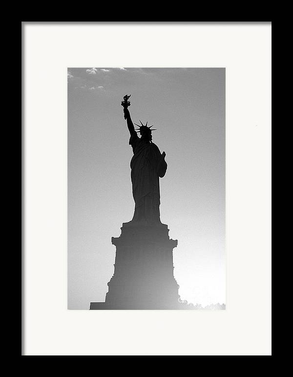 Statue Of Liberty Framed Print featuring the photograph Statue Of Liberty by Tony Cordoza
