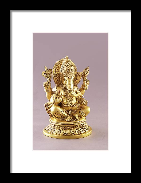 Spirituality Framed Print featuring the photograph Statue Of Lord Ganesh by Visage