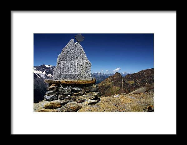 Mountains Framed Print featuring the photograph Statue The Dom by Annie Snel