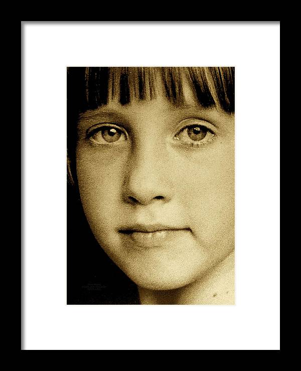 Sepia Framed Print featuring the photograph Stay Strong by Jane Alexander