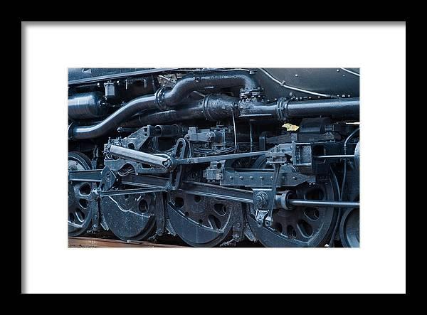 Steam Engine Wheels Framed Print featuring the photograph Steam Engine Wheels by Robert Klemm