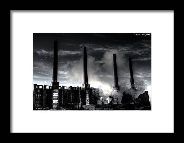 Power Plan Framed Print featuring the photograph Steam by Gunther Boelke