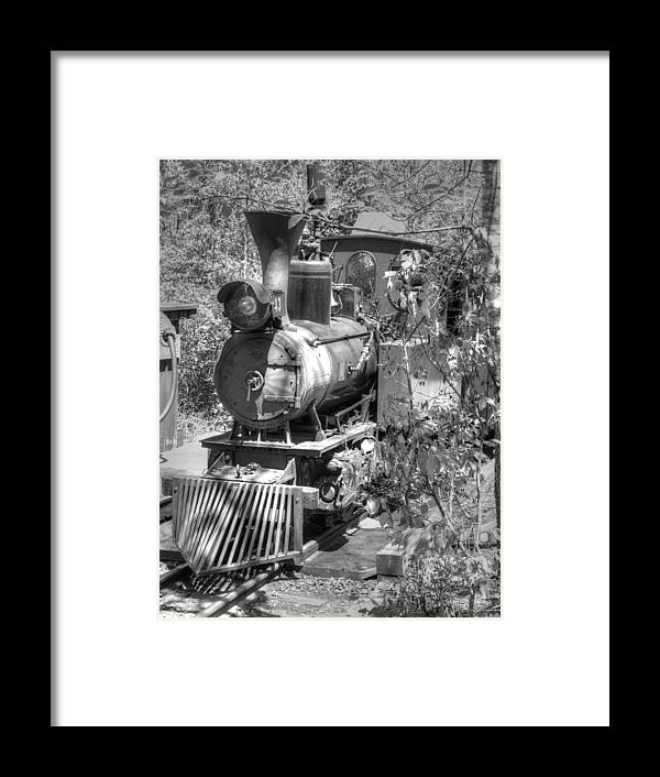 Hdr Framed Print featuring the photograph Steam Locomotive Old West V3 by John Straton
