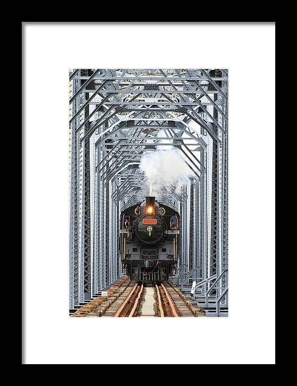 Air Pollution Framed Print featuring the photograph Steam Train by Peter Hong