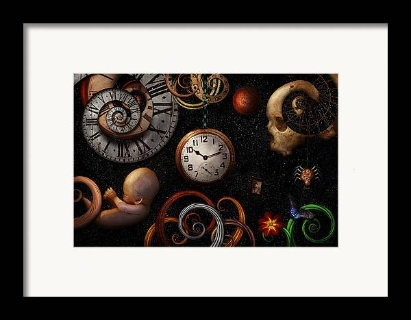 Time Framed Print featuring the photograph Steampunk - Abstract - The Beginning And End by Mike Savad