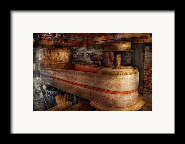 Steampunk Framed Print featuring the photograph Steampunk - Belts - Old School Is Best by Mike Savad