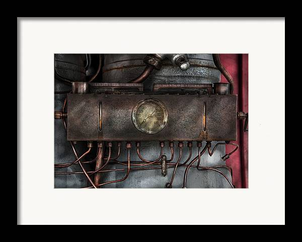 Hdr Framed Print featuring the photograph Steampunk - Connections  by Mike Savad