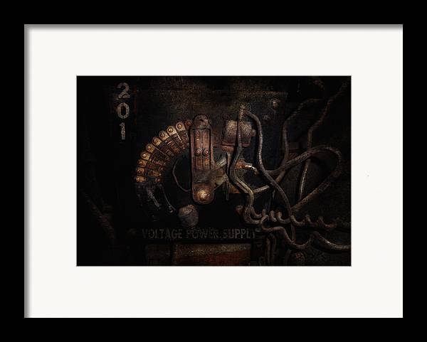 Hdr Framed Print featuring the photograph Steampunk - Electrical - Rotary Switch by Mike Savad