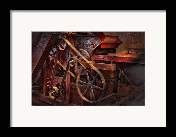 Steampunk Framed Print featuring the photograph Steampunk - Gear - Belts And Wheels by Mike Savad