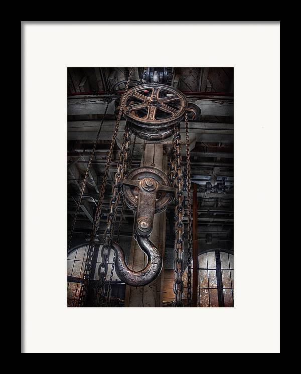 Hdr Framed Print featuring the photograph Steampunk - Industrial Strength by Mike Savad