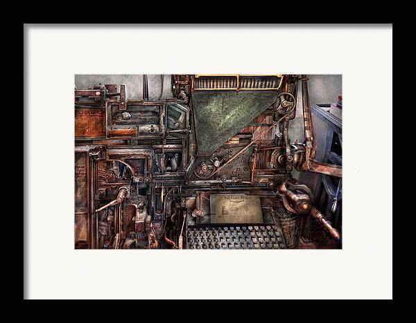 Steampunk Framed Print featuring the photograph Steampunk - Machine - All The Bells And Whistles by Mike Savad