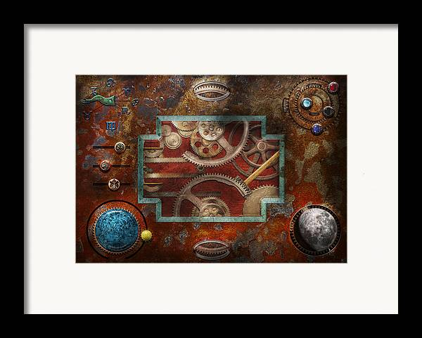 Hdr Framed Print featuring the photograph Steampunk - Pandora's Box by Mike Savad
