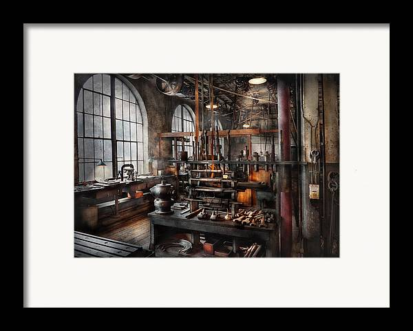 Steampunk Framed Print featuring the photograph Steampunk - Room - Steampunk Studio by Mike Savad