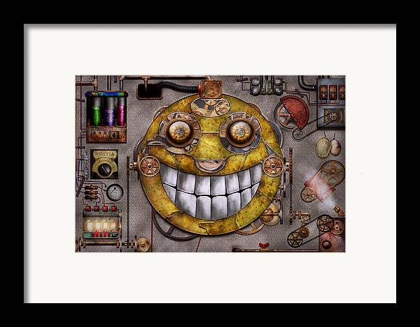 Steampunk Framed Print featuring the digital art Steampunk - The Joy Of Technology by Mike Savad
