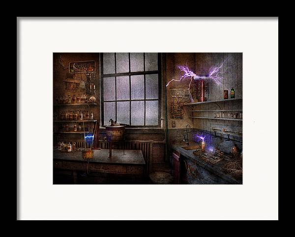 Hdr Framed Print featuring the photograph Steampunk - The Mad Scientist by Mike Savad