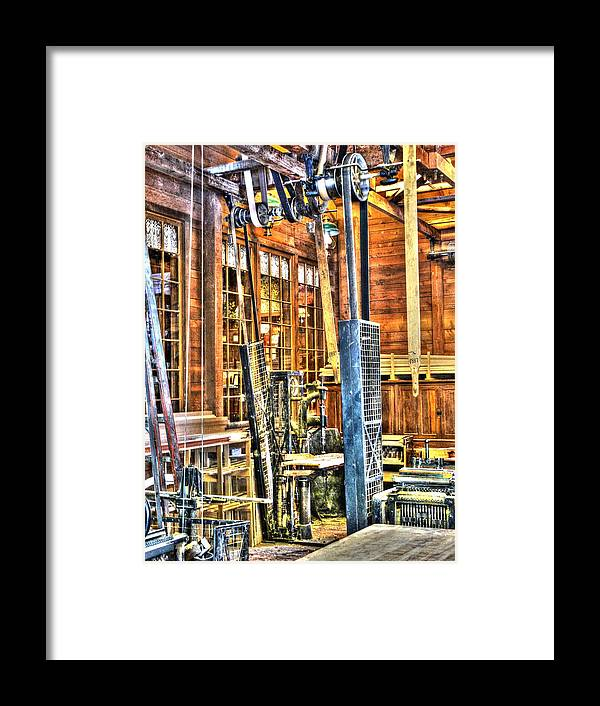Woodshop Framed Print featuring the photograph Steampunk Woodshop 3 by John Straton