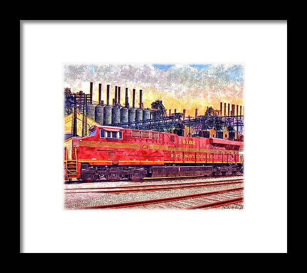 Art Framed Print featuring the painting Steel Rails by Charles Ott