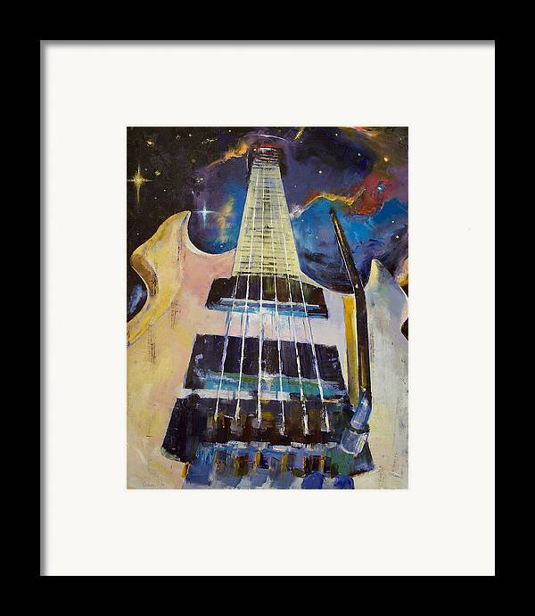 Stellar Framed Print featuring the painting Stellar Rift by Michael Creese