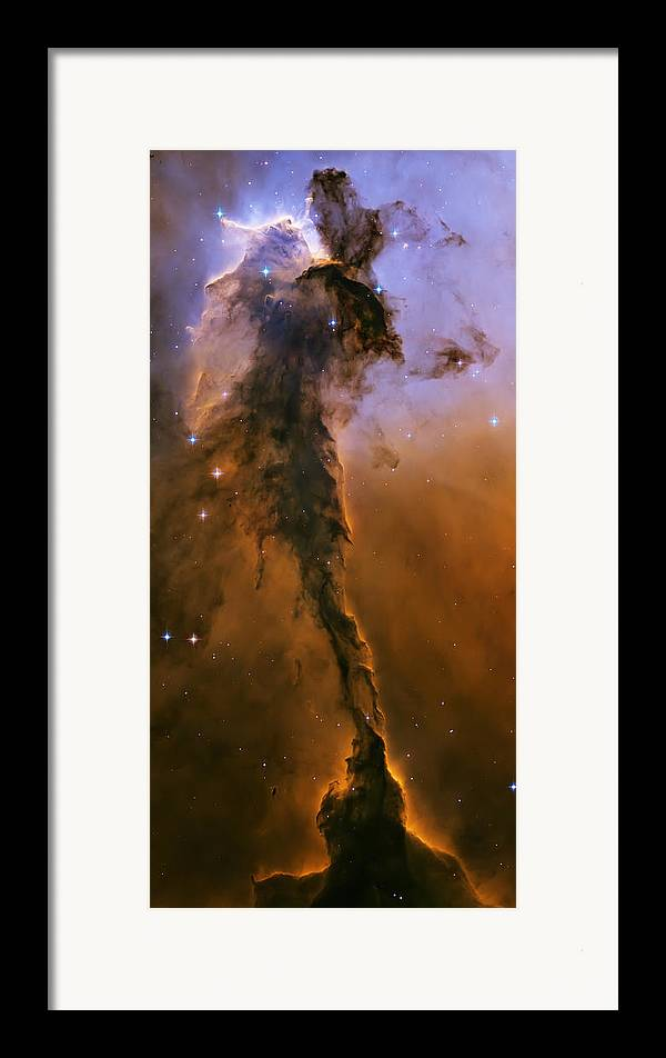 3scape Photos Framed Print featuring the photograph Stellar Spire In The Eagle Nebula by Adam Romanowicz