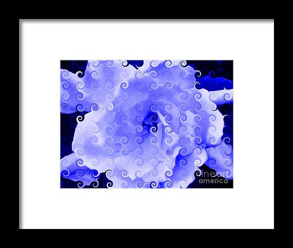 Flower Framed Print featuring the digital art Stephane by Angelica Pizano