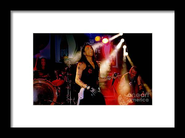 Stephen_pearcy_ratt Framed Print featuring the photograph Stephen Pearcy Of Ratt by Bruce Crummy