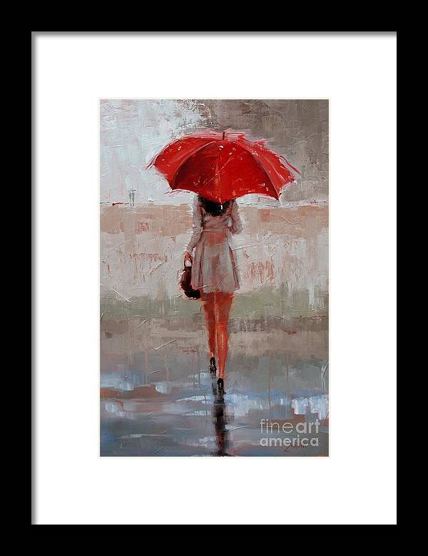Laura Zanghetti Framed Print featuring the painting Stepping Out by Laura Lee Zanghetti