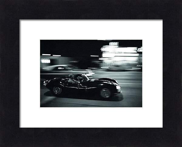 Steve McQueen Jaguar XK-SS on Sunset Blvd by Georgia Fowler