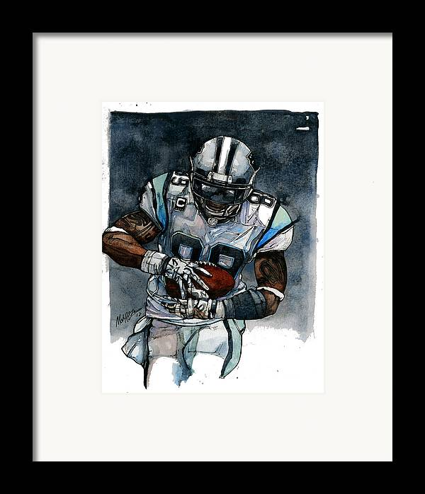 Steve Framed Print featuring the painting Steve Smith by Michael Pattison
