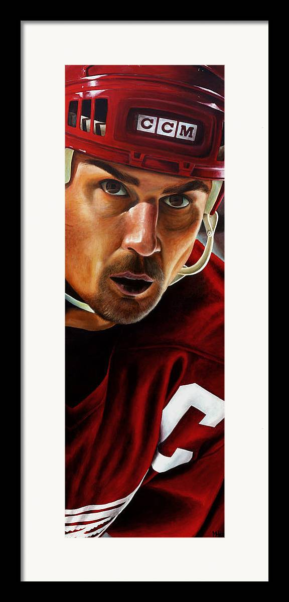 Sports Framed Print featuring the painting Stevie Y by Marlon Huynh