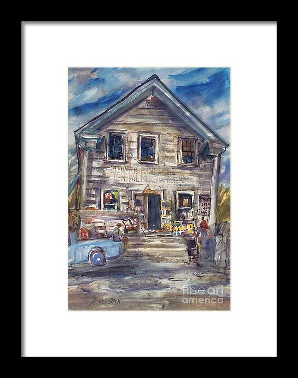 Framed Print featuring the painting Stewarts Point Store by Hazel Stitt