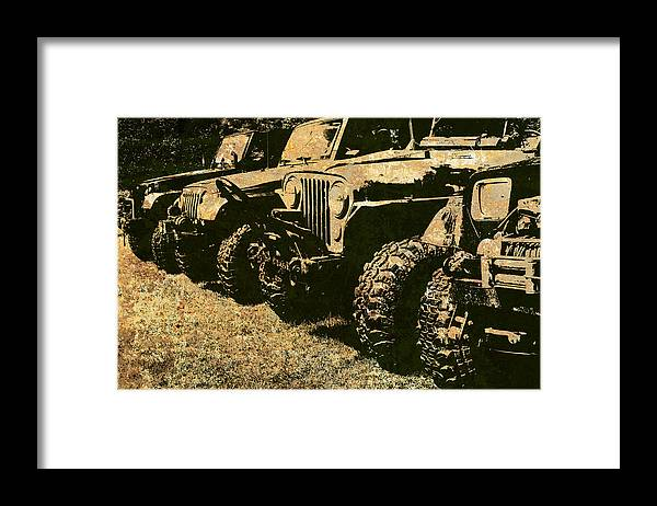 Jeep Framed Print featuring the photograph Sticks And Stones ... Won't Break My Bones by Luke Moore