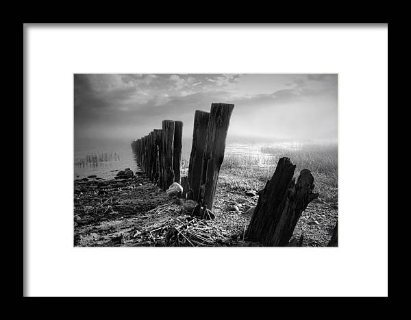 Landscape Framed Print featuring the photograph Sticks And Stones by Diana Angstadt