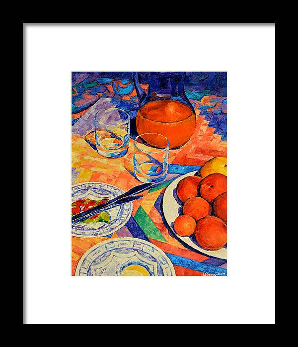 Still Life Framed Print featuring the painting Still Life 1 by Iliyan Bozhanov