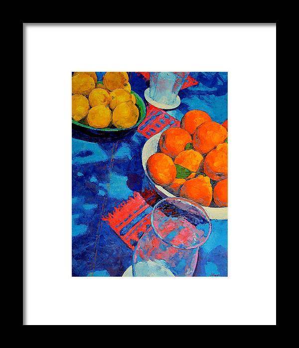 Still Life Framed Print featuring the painting Still Life 2 by Iliyan Bozhanov