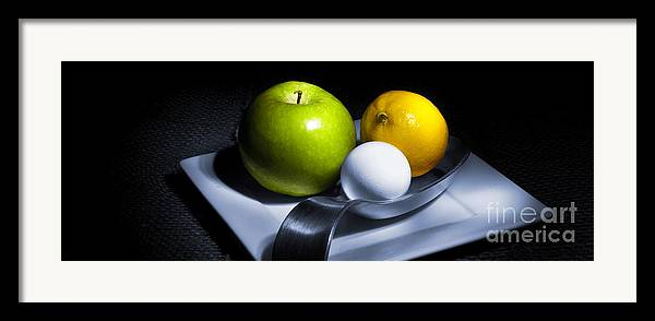 Apple Framed Print featuring the photograph Still Life Eclectic 2 by Cecil Fuselier