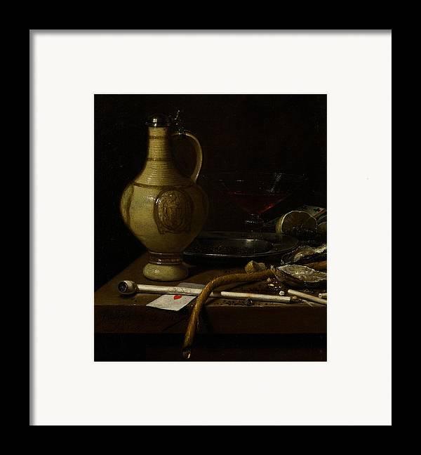 Still Framed Print featuring the painting Still Life by Jan Jansz van de Velde