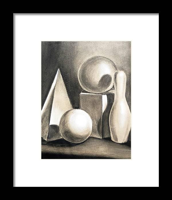 Still Framed Print featuring the drawing Still Life Study Of Forms by Irina Sztukowski