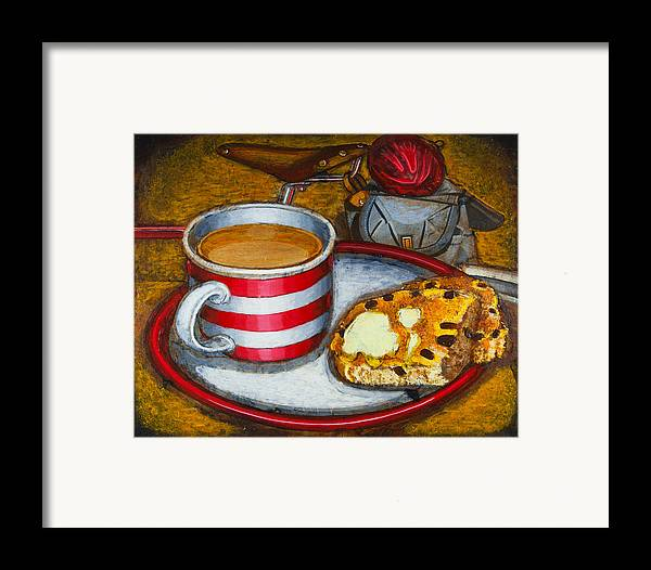 Tea Framed Print featuring the painting Still Life With Red Touring Bike by Mark Jones