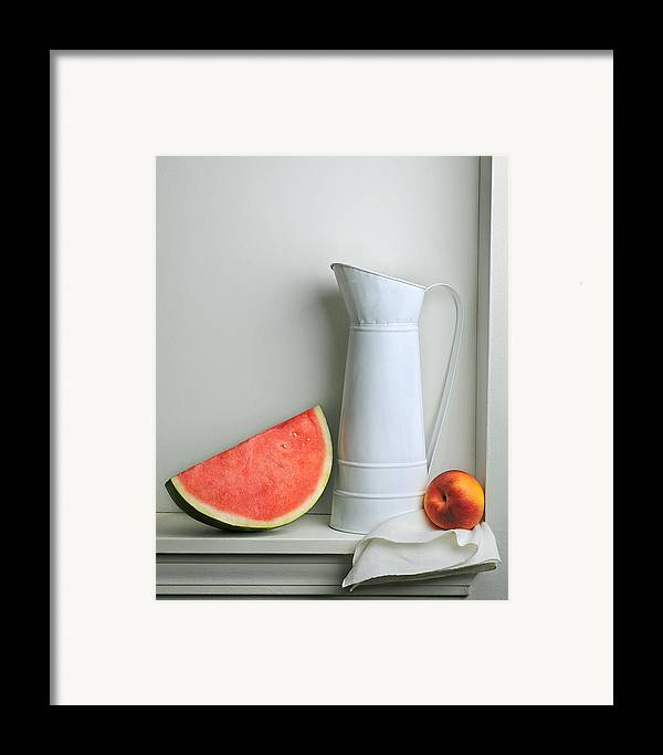 Art Framed Print featuring the photograph Still Life With Watermelon by Krasimir Tolev