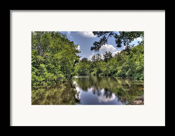River Framed Print featuring the photograph Still Waters by David Troxel