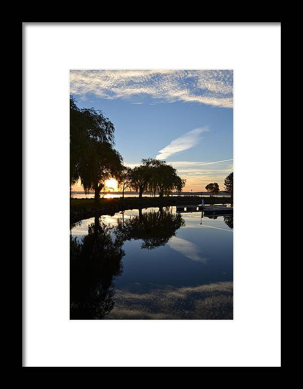 Abstract Framed Print featuring the photograph Stillness by Lyle Crump