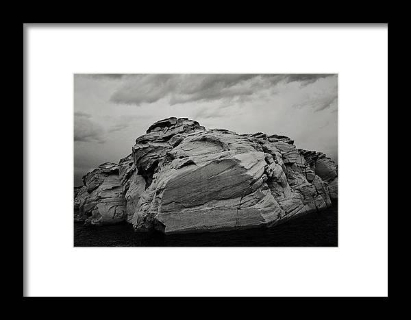 Rock Framed Print featuring the photograph Stillness by Melissa Eberhart