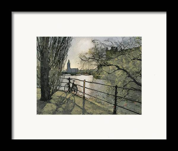 Stockholm Framed Print featuring the digital art Stockholm 10 by Yury Malkov