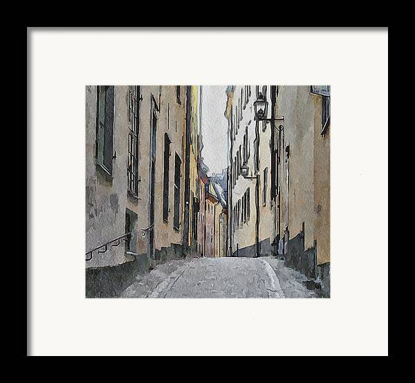 Stockholm Framed Print featuring the digital art Stockholm 13 by Yury Malkov