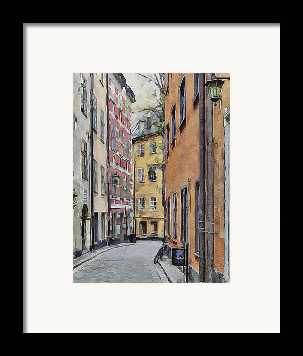 Stockholm Framed Print featuring the digital art Stockholm 15 by Yury Malkov